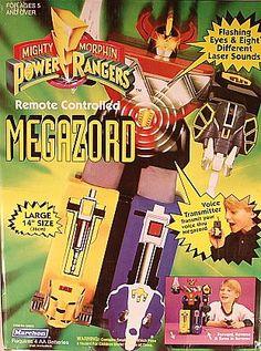 Power Rangers 1993 Remote Control Megazord http://www.ebay.ca/usr/collectiblesbycandb