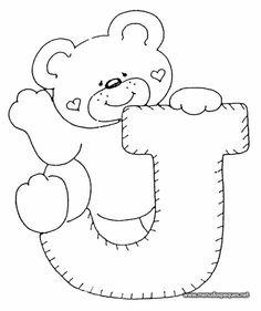 4 Modelos de Alfabeto Completo para Colorir e Imprimir - Online Cursos Gratuitos Alphabet Templates, Applique Templates, Applique Patterns, Cross Stitch Patterns, Coloring Letters, Alphabet Coloring, Coloring Books, Coloring Pages, Colouring