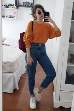 85 Pretty High Waisted Jeans Outfits for Every Body Type – – Rezepte Vintage Outfits, Outfits 80s, Outfits Hipster, Heels Outfits, Mode Outfits, Outfits For Teens, Casual Outfits, Outfits Spring, Spring Wear