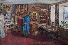 "Зайцев Егор Николаевич > В мастерской иконописца +++ Yegor Nikolayevich Zaitsev - ""In the Iconographer's Studio"""