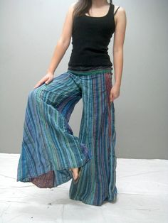 Colorful wide legs yoga pant  LMCWL264.1 by thaitee on Etsy, $43.00