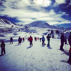 Mountains of La Plagne...awesome