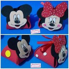 Porta Bombom Em Eva Da Minnie E Mickey - R$ 20,00