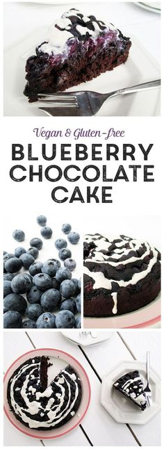 DIY Blueberry Chocolate Cake Vegan Gluten-free Without Refined Sugar Low Fat :) @ICookUEat