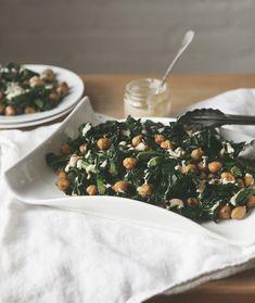 Summer Sides: Garbanzo Kale Salad With Lemon Tahini Dressing   Free People Blog #freepeople