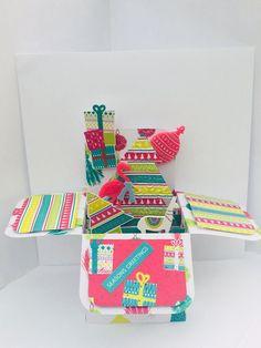 Handmade Card Christmas Pop Up Card Lama/flamingo, Personalised Christmas Card Luxury Christmas Cards, Boxed Christmas Cards, Personalised Christmas Cards, Christmas Pops, Pop Up, Flamingo, Stationery, Gift Wrapping, Diy