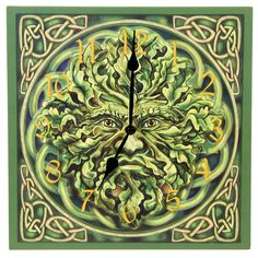Green Man Clock, Lisa Parker