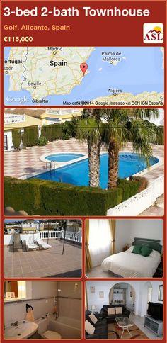 3-bed 2-bath Townhouse in Golf, Alicante, Spain ►€115,000 #PropertyForSaleInSpain
