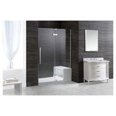 Cette incroyable cabine de douche n o angulaire compacte for Porte halo 60