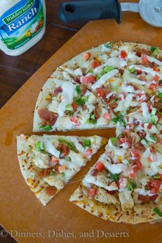 Bacon, Ranch, Chicken Pizza
