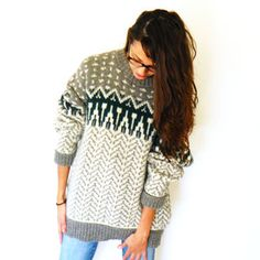 Retro-itis seems to have infected every faashionista. This sweater should make you feel a bit better though. Wool Fair Isle Sweater now featured on Fab. #Fashion #Vintage