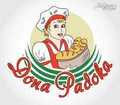 JuRehder - Criação de Logo para Dona Padoka Padaria e Confeitaria - Santa Cruz do Rio Pardo/SP