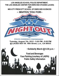 National Night Out Invite - NNO | My Etsy Designs | Pinterest ...