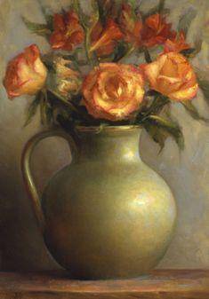 Galería Pintores Extranjeros :: Aristides, Juliette Juliette Aristides, Nature Drawing, Art Nature, Oil Painting Flowers, Rose Paintings, Rose Art, Beautiful Paintings, Flower Art, Amazing Art