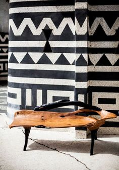 Contemporary Design Africa - Featured designer: Ebony and Wooden bench by Nulangee Design, Senegal. Image courtesy David Crookes for Design Network Africa. Modern furniture made in Africa