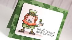 St. Patrick's Day Card with Distress Markers - Color Wednesday #34