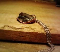 Rough Copper Seaglass Pendant Necklace by JennieVargasJewelry,