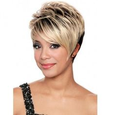 Premium synthetic wig by Bobbi Boss, Ali. Made of the upmost premium synthetic fibers. Heat resistant up to Hand tied Bang pieces, All Bobbi Boss Wigs made to look natural and make you feel Chic Short Hair, Girl Short Hair, Short Hair Cuts, Short Hair Styles, Short Pixie, Pixie Cuts, Short Girls, Black Girls, Black Women