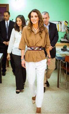 jordanianroyals:  Queen Rania visited the Orient Spirit Development Organization, May 6, 2015