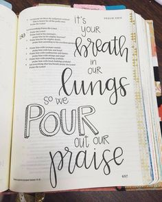 Bible journaling song lyrics. Great lettering on this bible journaling page. I love it. Check out The Thistlette for Christian Feminist content and our upcoming discussion on the unequal gendering of Bible Journaling.