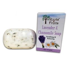 Roots and Fruits Bar Soap - Lavender and Chamomile - 5 oz. This soap works to keep the skin hydrated and clean. Helps reduce blotching, redness, washes away excess oil in the skin and is soothing to the senses.  Helps to reduce blotching, redness and to relieve irritated skin Washes away excess oil in the skin Aromatically soothing to the senses Mother Natures soap company! Our soap is All Natural and handcrafted in the USA. We are committed to producing soaps that are good for you and that…