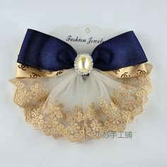 堆糖-美好生活研究所 Ribbon Hair Bows, Diy Hair Bows, Diy Bow, Lace Bows, Diy Ribbon, Ribbon Work, Ribbon Crafts, Ribbon Jewelry, Fabric Jewelry