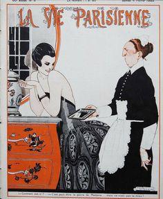 René Vincent (1879 – 1936). La Vie Parisienne, 4 Février 1922. [Pinned 19-ii-2021]