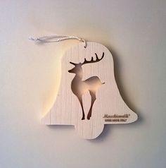 Addobbi natalizi in legno per albero Le di MacchiavelliArtLegno