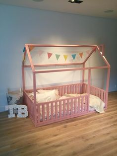 New Children bed Toddler bed Baby toy House frame bed Baby House Frame Bed, House Beds, Kids Bed Frames, Painted Beds, Kid Beds, Baby Beds, Toy House, Nursery Bedding, Nursery Room