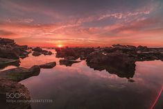 Mediterranean Sunsets by Isamtelhami. Sunset Photography, Landscape Photography, Travel Photography, Beach Rocks, Photos Of The Week, Tourism, Sunrise, Coast, Around The Worlds