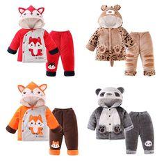 Tienda Online 2 unids/set bebé niños ropa Set Otoño Invierno Fox bear panda r. Cute Baby Boy Outfits, Toddler Boy Outfits, Cute Baby Clothes, Kids Outfits, Cute Babies, Baby Kids, Usa Baby, Baby Sewing Projects, Baby Online