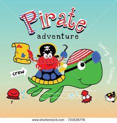 turtle pirate cartoon