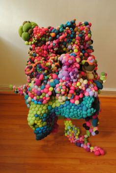 Large Scale Organic Installations Made From Bright Balls Of Fabric | Beautiful/Decay Artist & Design