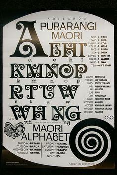 Purarangi: Maori Alphabet: Designer by Joseph Churchwood New Zealand Symbols, Waitangi Day, Maori Words, Maori Patterns, Zealand Tattoo, Polynesian Art, Maori Designs, Tattoo Designs, Nz Art