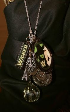 """I love charm necklaces, they are so expressive - and this one from the show, """"Wicked"""" is very, very clever!"""