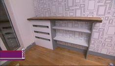 Fabriquer une bibliothèque cache-radiateur - M6 Deco.fr Home Appliances, House, Bookshelves Diy, Diy Table, New Homes, Entryway Tables, Home Decor, Diy Radiator Cover, Studio Decor