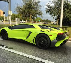 Lamborghini Aventador Super Veloce Coupe painted in Verde Singh  Photo taken by: @supercars.only on Instagram (@lubejobs on Instagram is the owner of the car)
