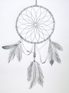 This 11X14 original pencil drawing is of a dream catcher. The drawing is on fine tooth surface sketchbook paper.