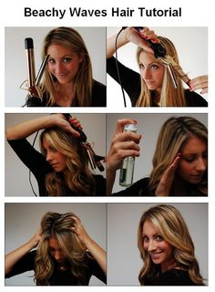 Beachy Waves Hair Tutorial- so i can use a normal curling iron!