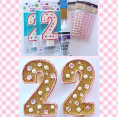 Pink and gold cande Pink And Gold Birthday Party, Golden Birthday, Minnie Birthday, Baby Girl Birthday, Third Birthday, 3rd Birthday Parties, Birthday Wishes, Birthday Ideas, Gold Party