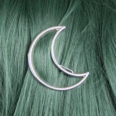 At Midnight Crescent Moon Hair Clip at Beatnik Emptiness