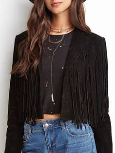 Buy Lapel Tassel With Zips Plain Jackets online with cheap prices and discover fashion Jackets at Fashionmia.com.