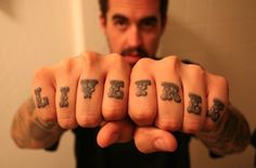 Sweet knuckle tattoo.