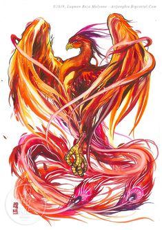 Image of Rise of The Phoenix Phoenix Artwork, Phoenix Wallpaper, Phoenix Drawing, Phoenix Images, Tatoo Art, Body Art Tattoos, Sleeve Tattoos, Cool Tattoos, Phoenix Tattoo Feminine