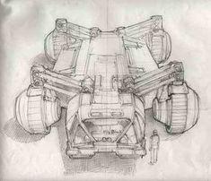 Ron Cobb - Speculative Technology Superhero Design, Robot Design, Design Cars, Scrap Mechanics, Alien Concept Art, Alien Art, Pen Sketch, Cyberpunk Art, Cool Sketches