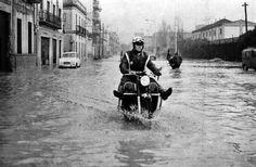 Avénida de Italia inundada. Año 1958 #Huelva