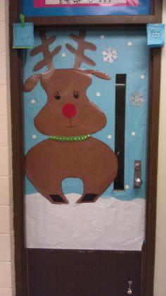 Rudolph door- front door to classroom