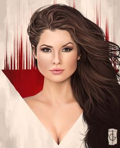 My portrait of Amanda Cerny