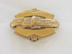 Victorian Buckle Brooch Pendant with by VintageVogueTreasure