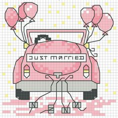Just Married bridal car
